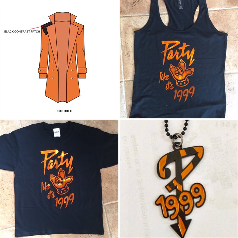 Jacket, tank top, t-shirt, and P 1999 pendant.